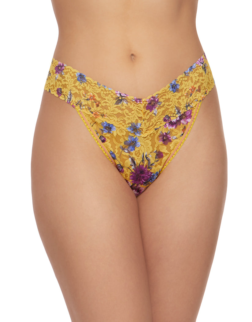 Yellow Multi Front Hanky Panky Rapunzel Stretch Lace Thong