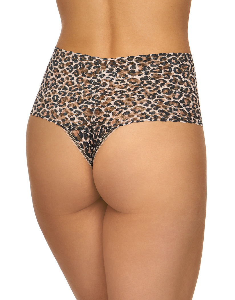 Brown Black Back Hanky Panky Classic Leopard Retro Thong 2X1924