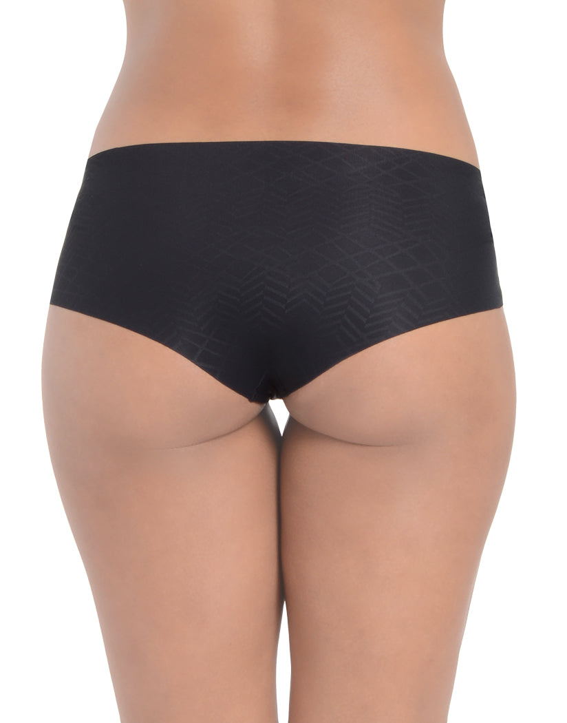 Black Back 2xist Women Laser Cut Micro Hipster Panty