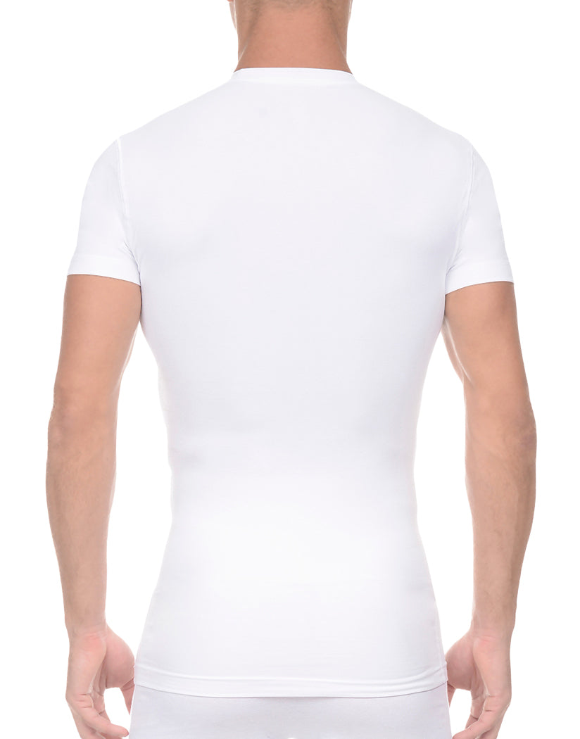 White Back 2xist Men's Form Crew Neck x04505