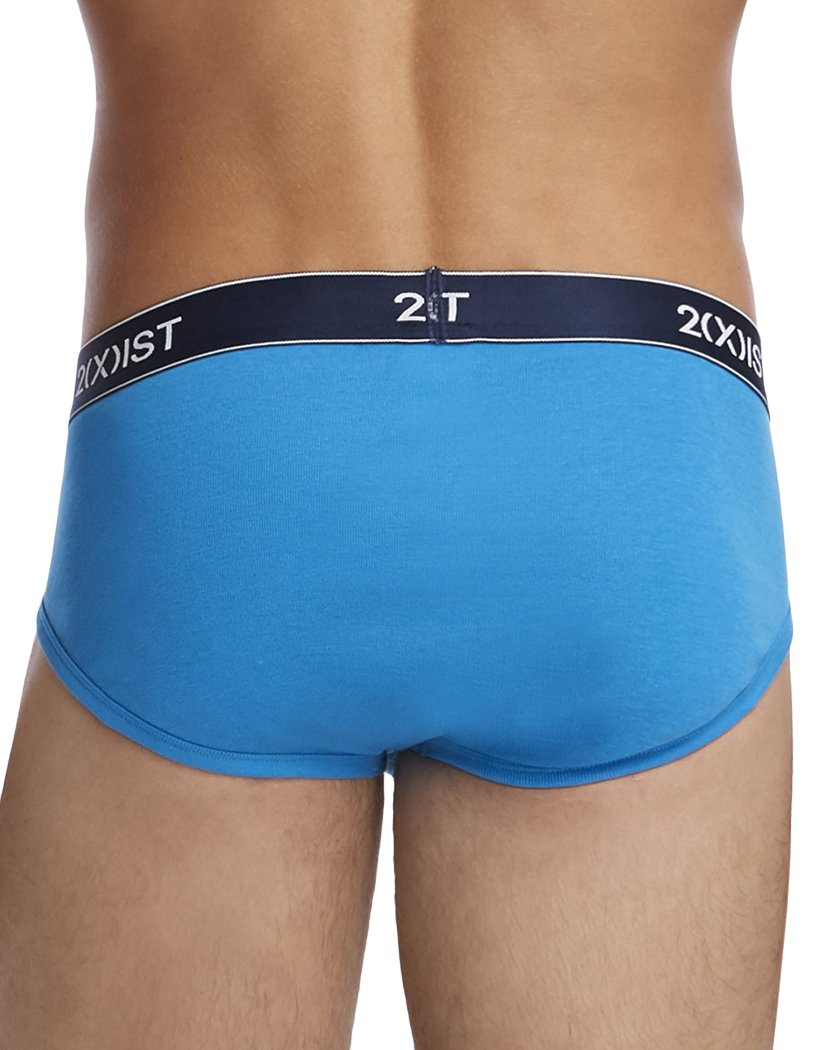Blue Aster/Red Orange/Lime Back 2xist Essential 3-Pack Cotton Contour Pouch Brief 020303