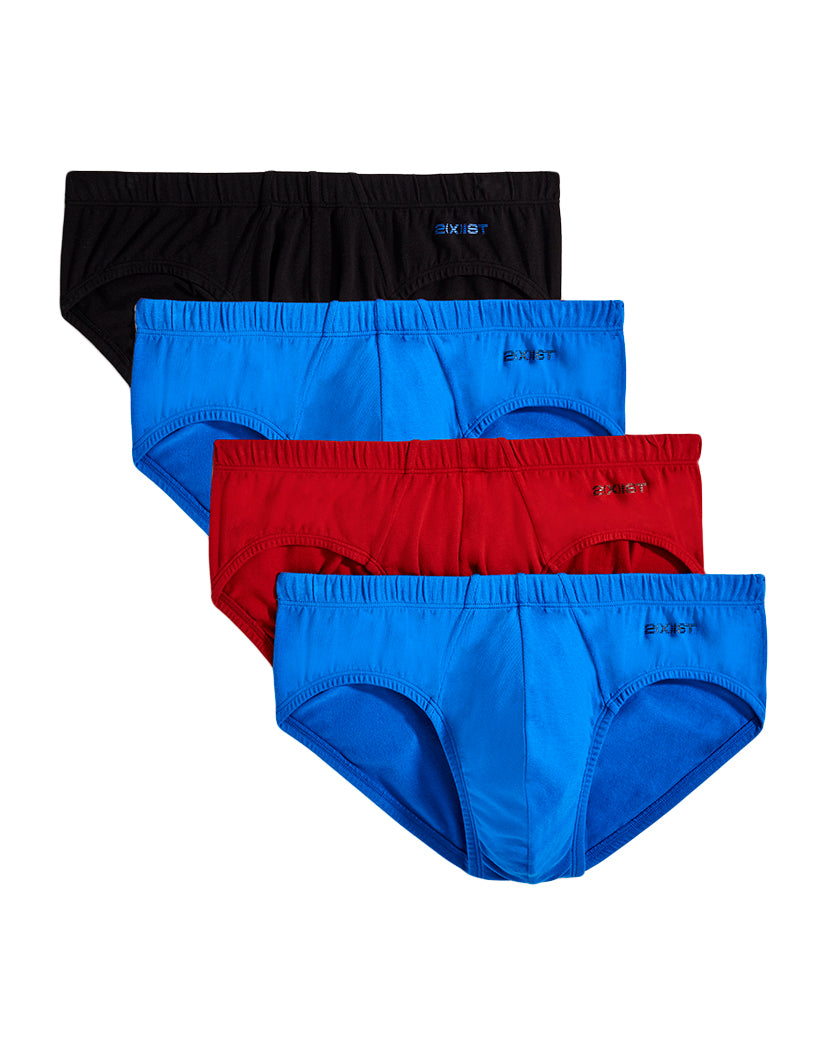 Sky Diver/ Scotts Red/ Black/ Sky Diver Front 2xist 4-Pack Stretch Bikini