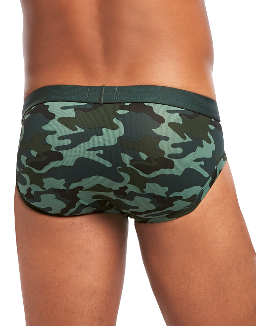 Camo Green Gables Back 2xist Speed Dri Mesh-I No Show Brief