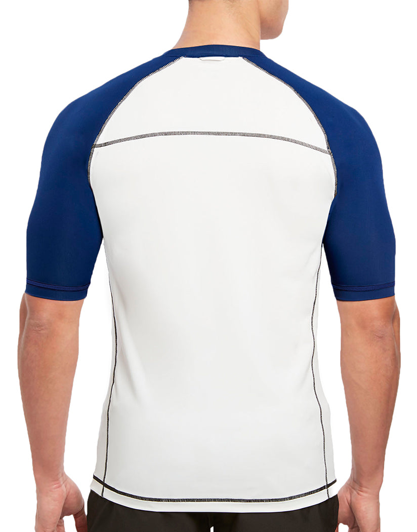 White/Varsity Navy Back 2xist Rash Guard