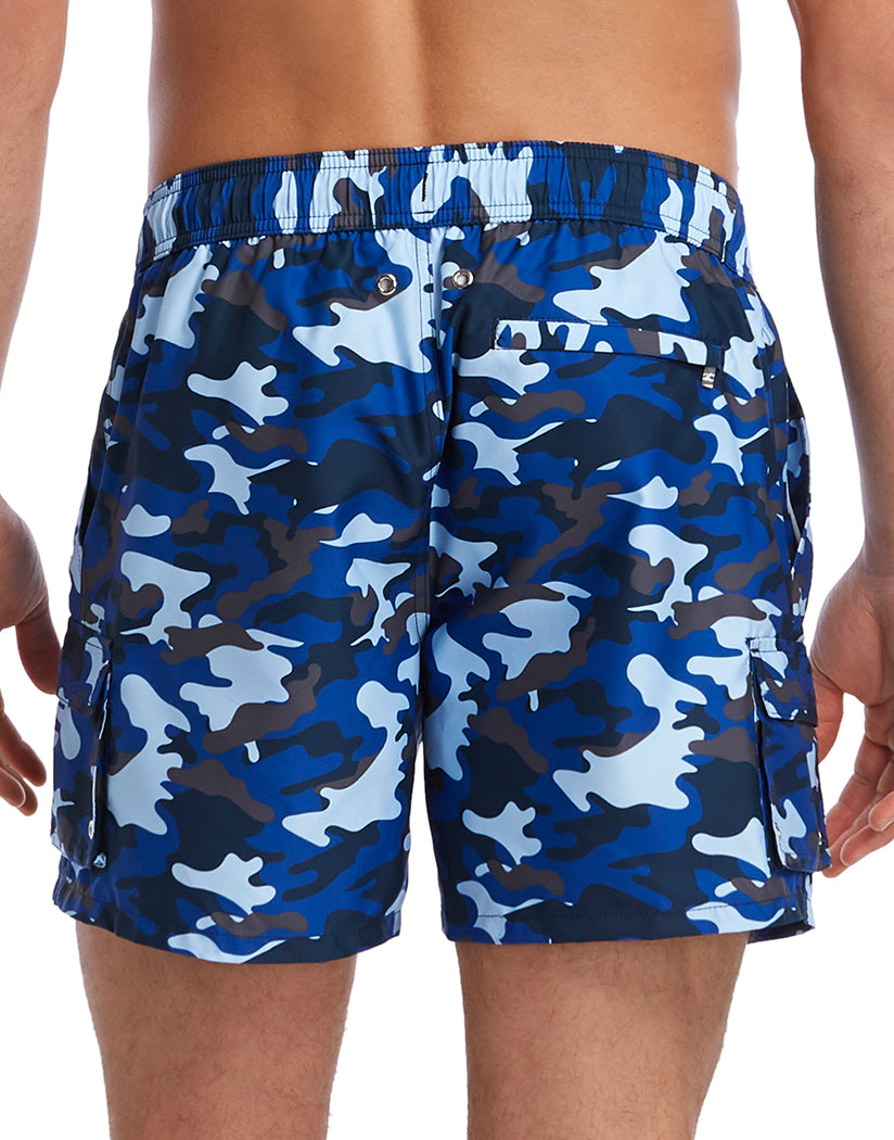 Traditional Camo- Blue Back 2xist Woven Swim Cargo Short 151015