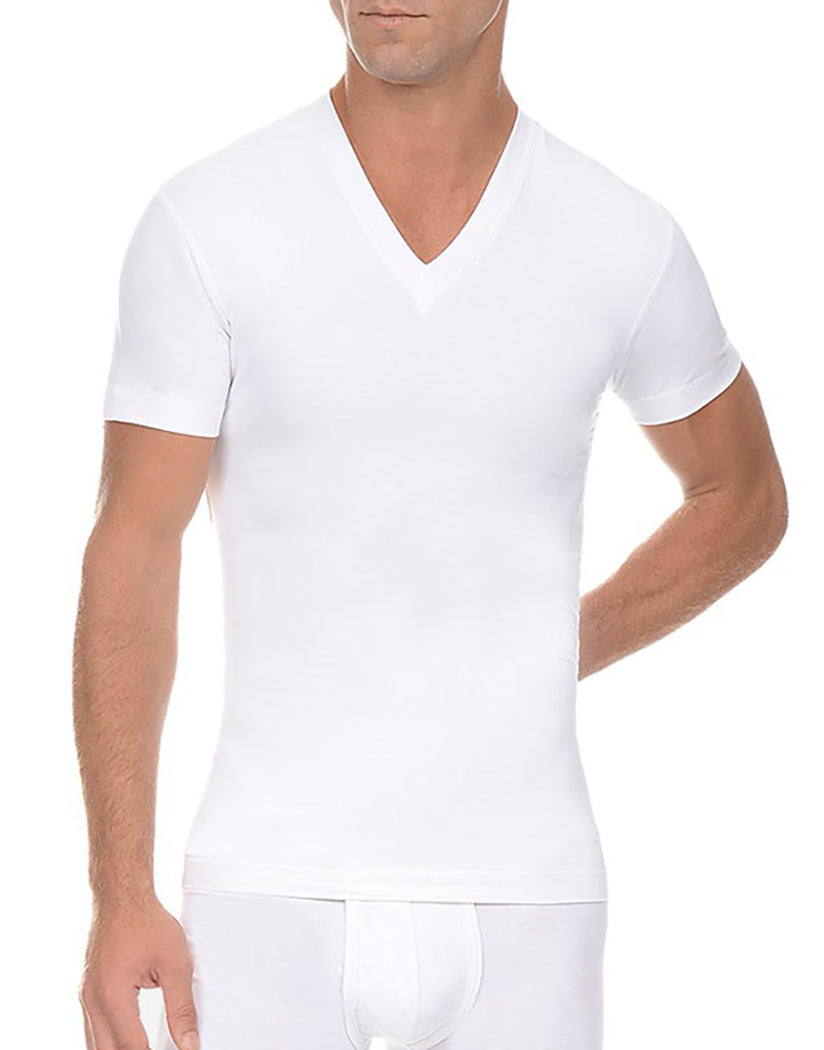 White Front 2xist Men's Form V-Neck Tee 4510
