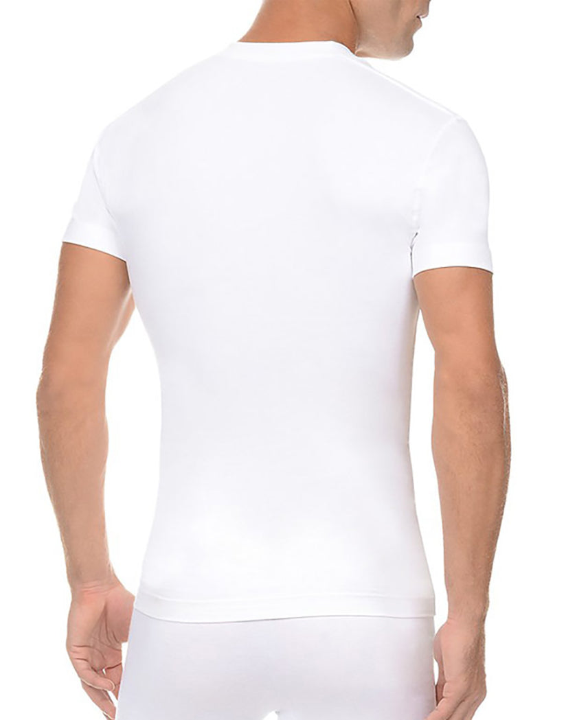 White Back Form V-Neck Tee