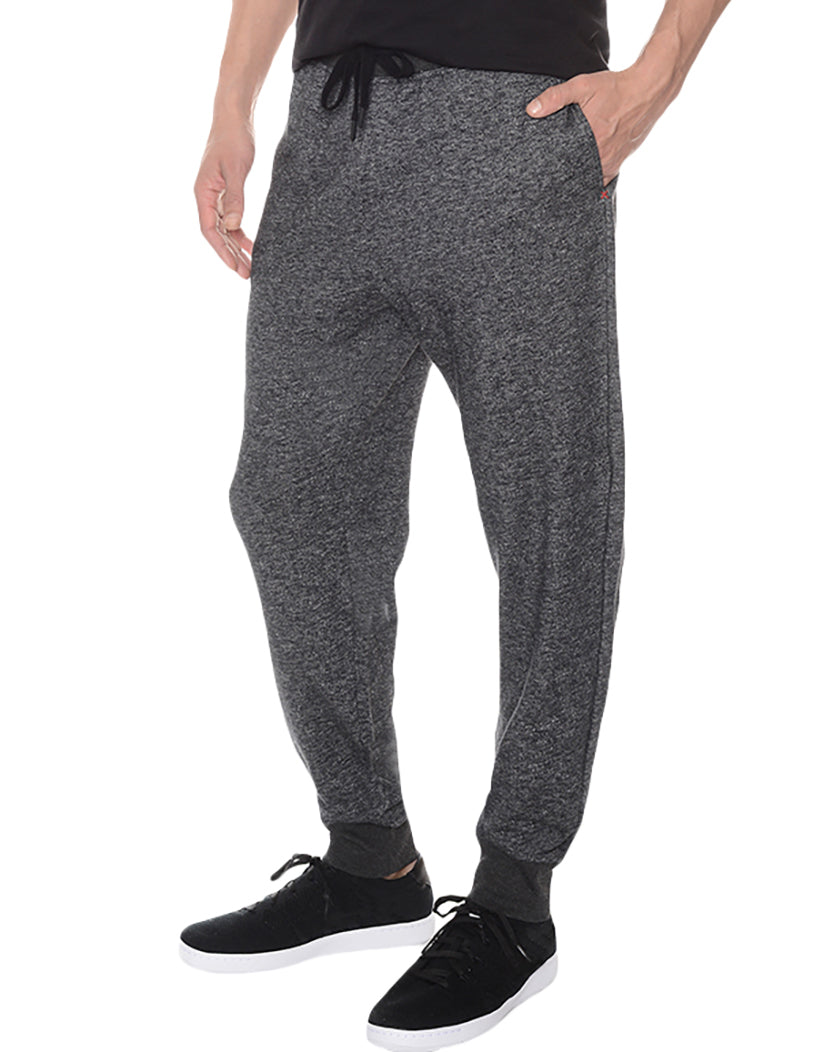 Black Heather Side Terry SweatPant
