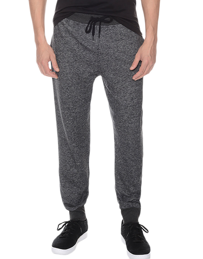 Black Heather Front Terry SweatPant