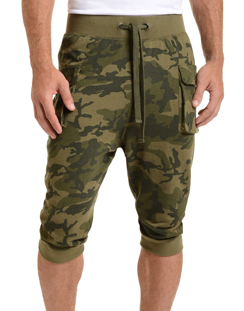 2xist Cargo Cropped Pant Olive Camo S 603679204641