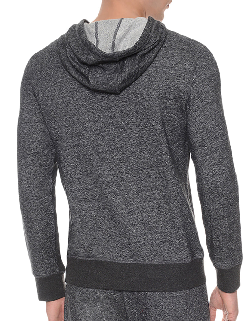 Black Heather Back Hooded Pull Over