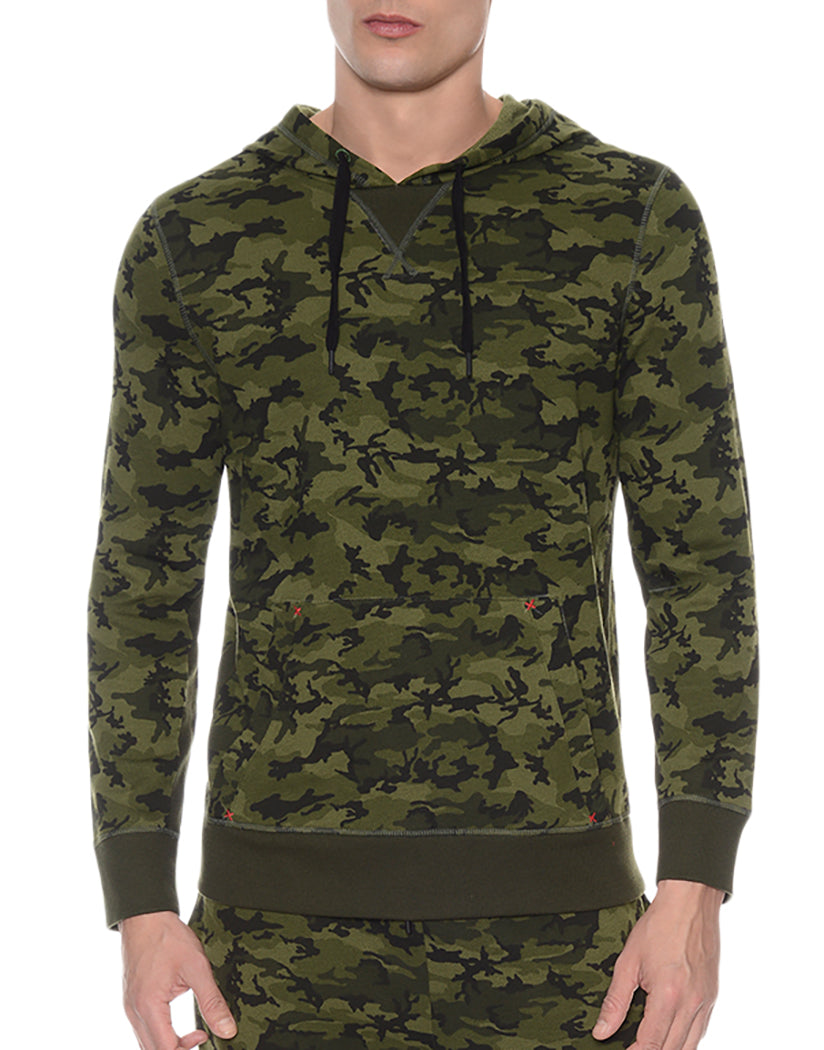 Olive Camo Front Hooded Pull Over