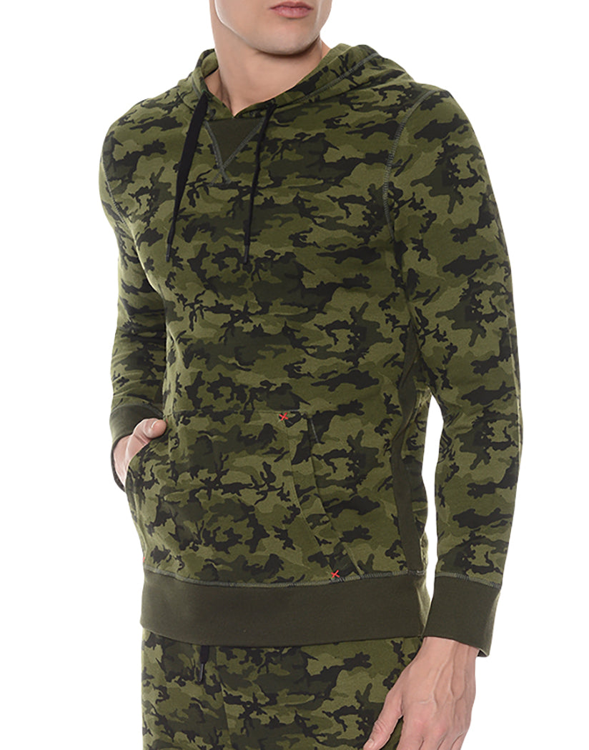 Olive Camo Side Hooded Pull Over
