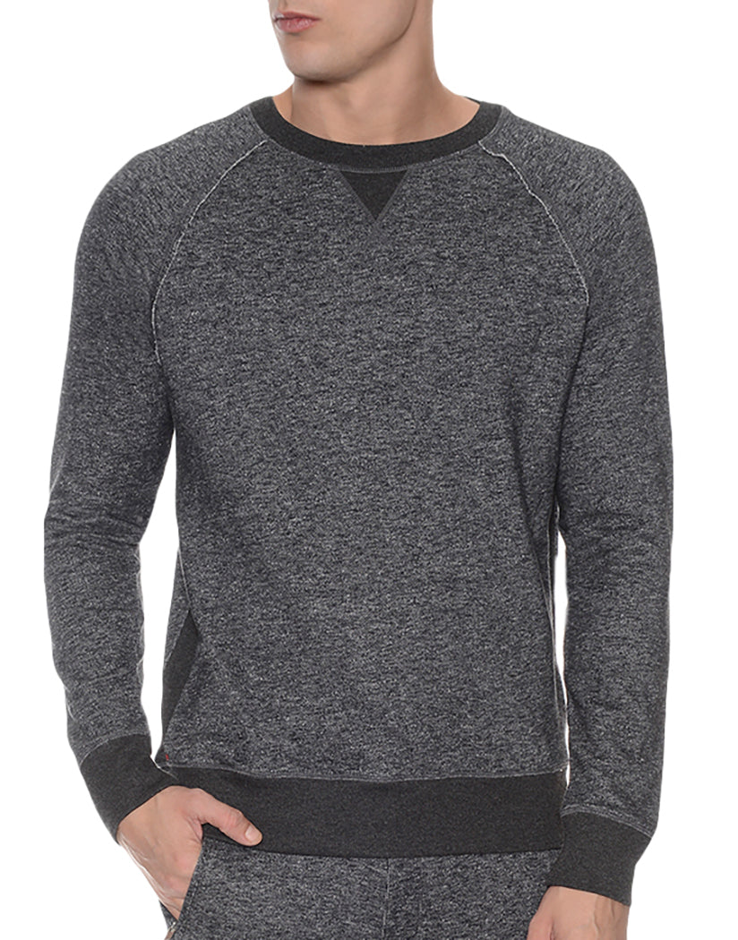 2xist Terry Crewneck Sweatshirt Black Heather XL 603679175637