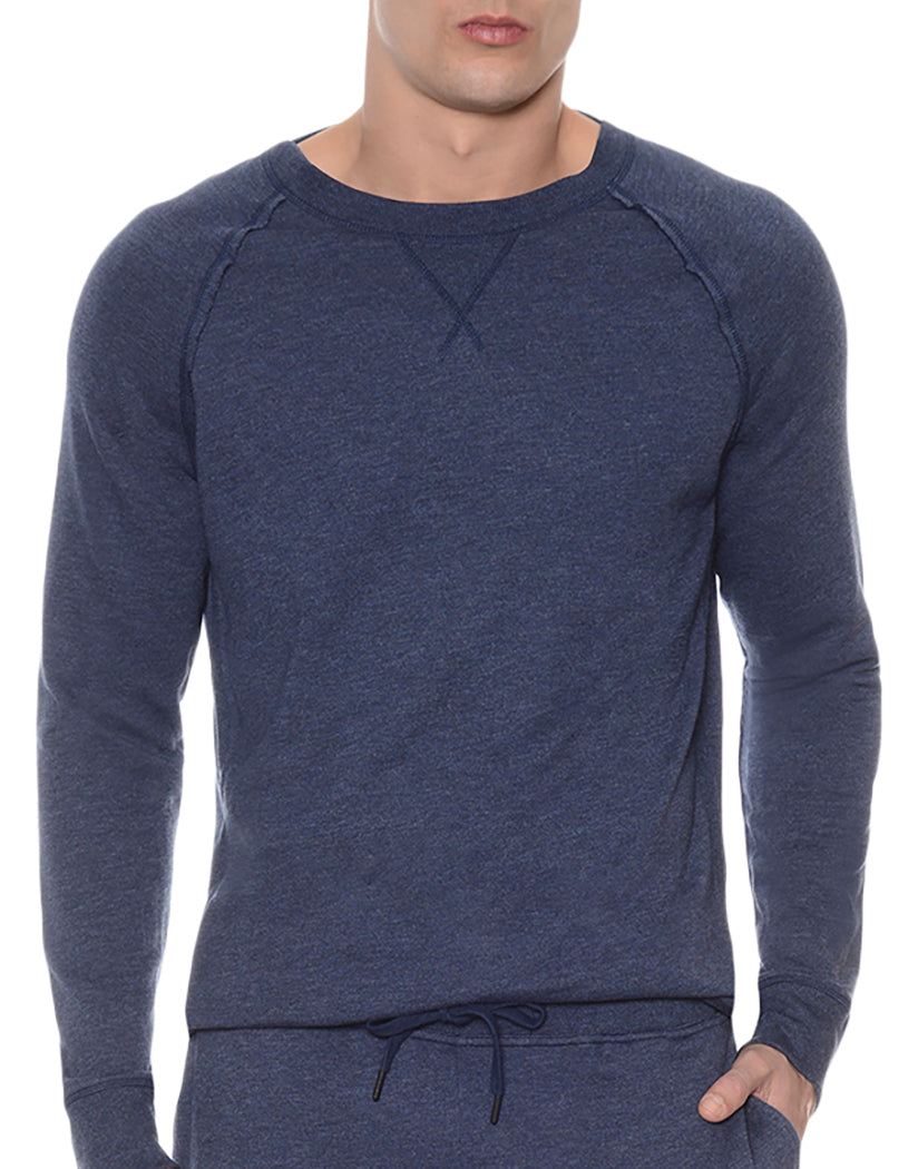 2xist Terry Crewneck Sweatshirt Denim Heather L 603679188200