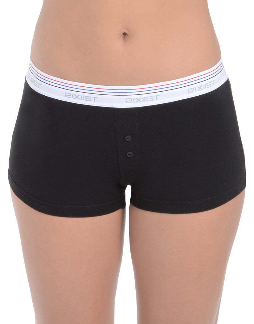 2xist Women Retro Cotton Boy Leg Short Black XS 603679297322