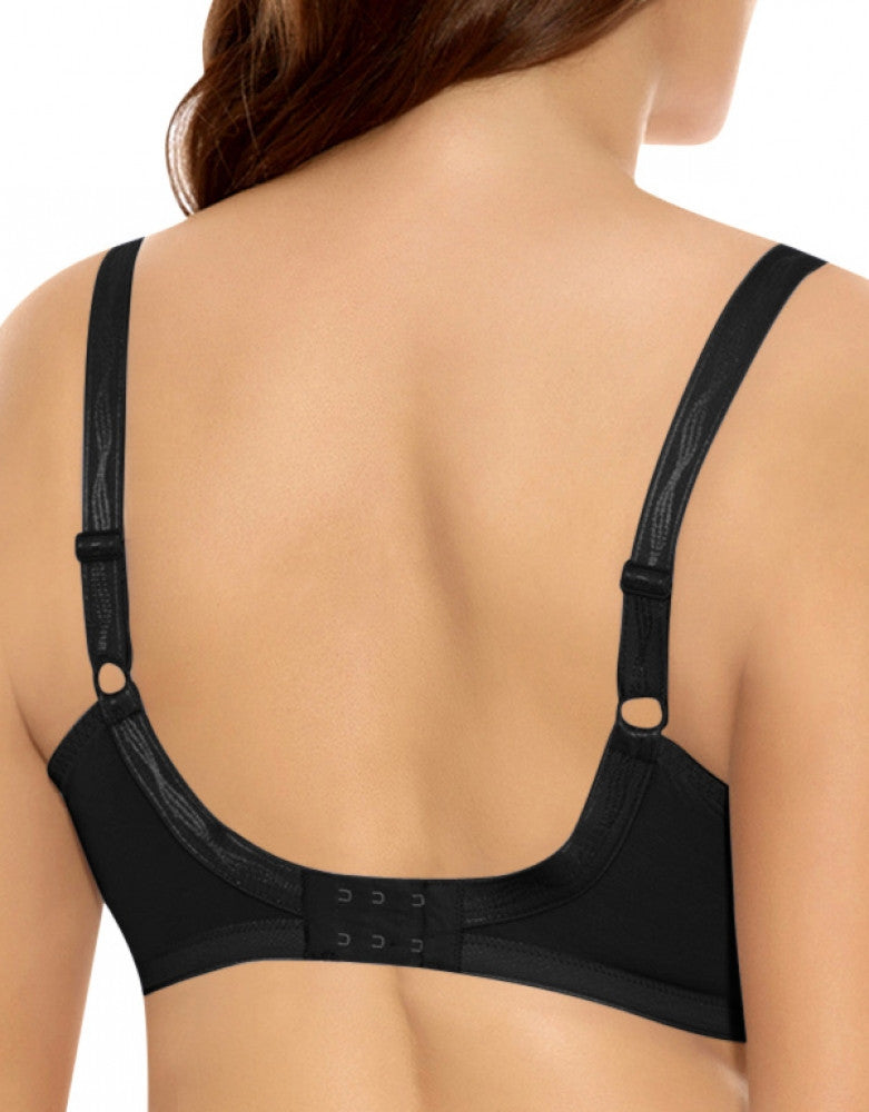 Black Back Elomi Caitlyn Underwire Side Support Bra