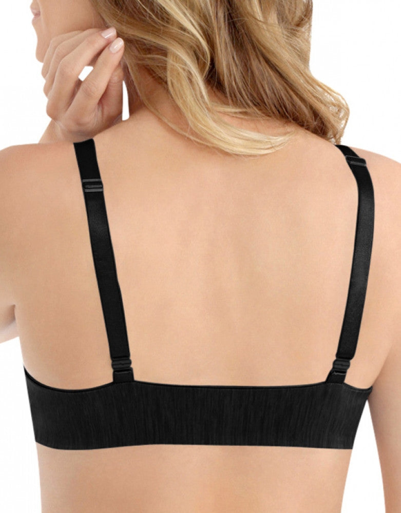 Midnight Black Back Vanity Fair Illumination Convertible Front Close Bra