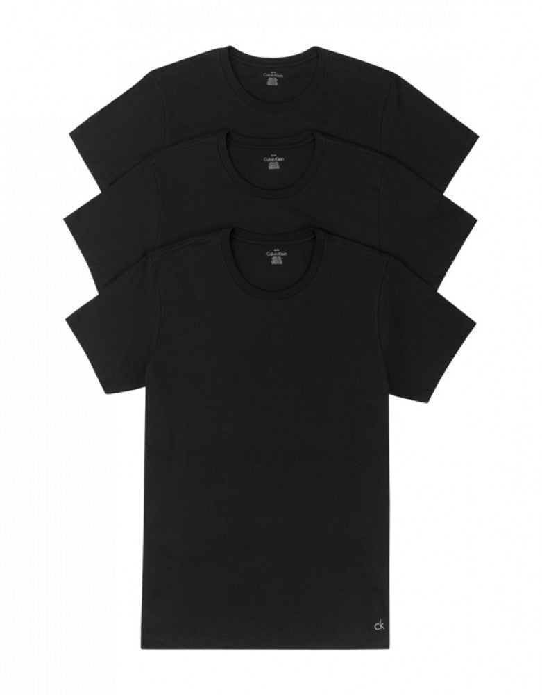 Black Front Calvin Klein 3-Pack Cotton Classic Crew Neck T-Shirts