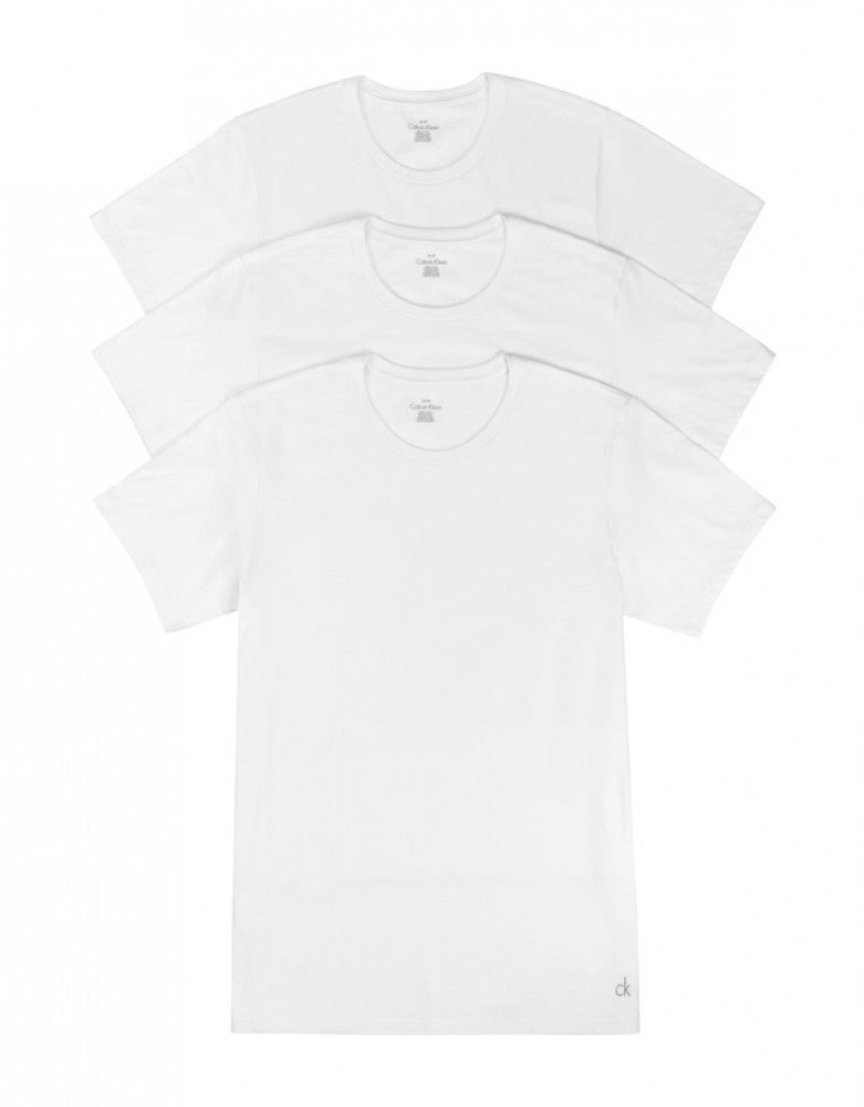 White Front Calvin Klein 3-Pack Cotton Classic Crew Neck T-Shirts