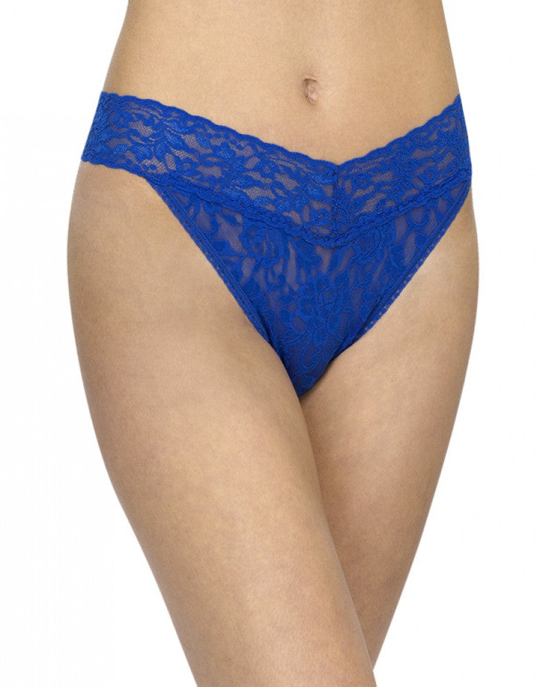 Sapphire Front Hanky Panky Signature Stretch Lace Thong
