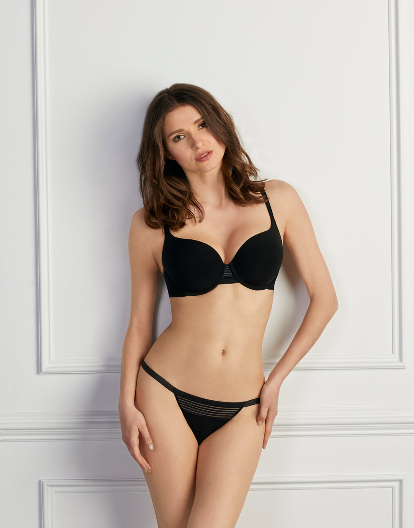 Black Front Le Mystere Second Skin Back Smoother Bra 5221