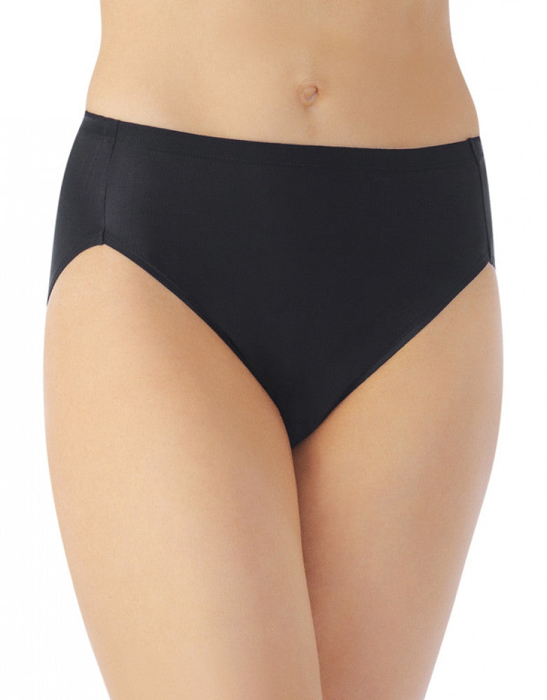 Midnight Black Front Vanity Fair Cooling Touch Hi-Cut Brief