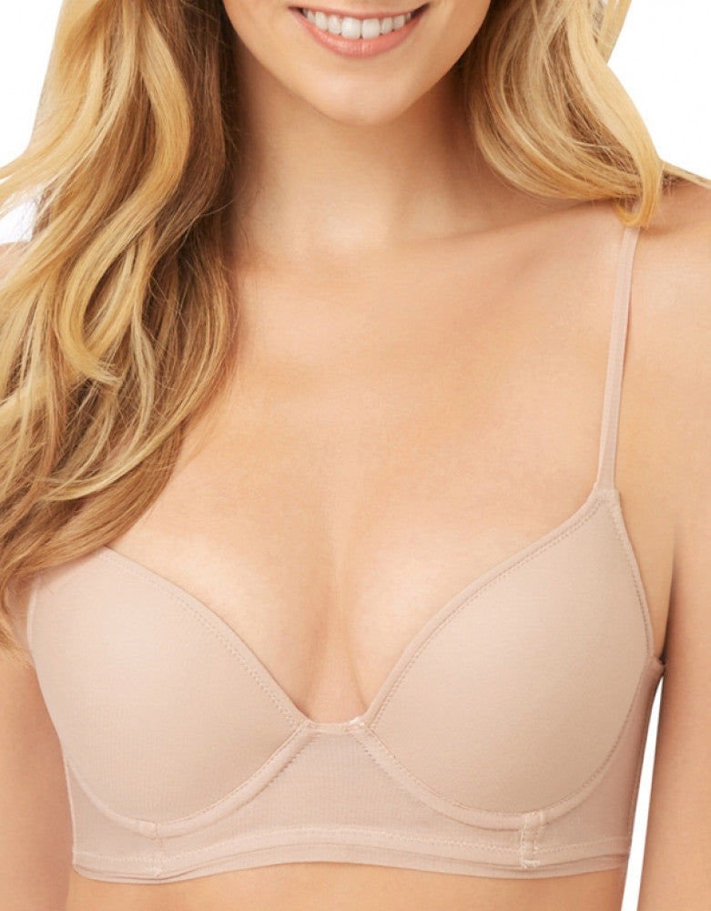 Champagne Front OnGossamer Bump It Push-Up Longline Bra