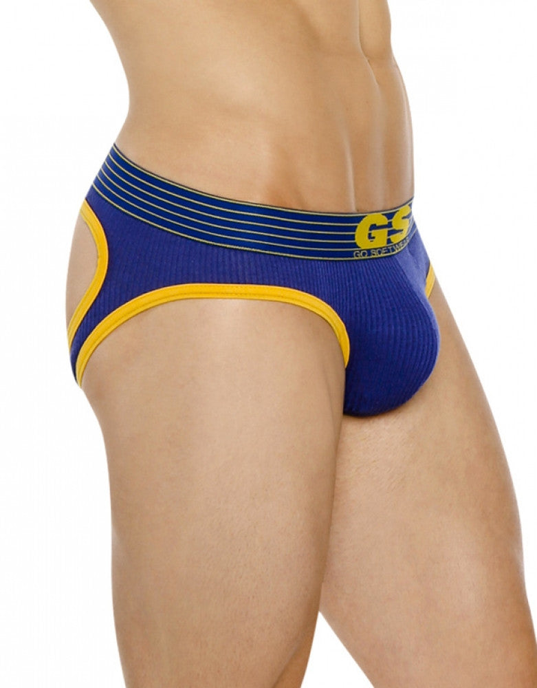 Royal/Yellow Front Go Softwear Pop Volt Reveal Jockstrap