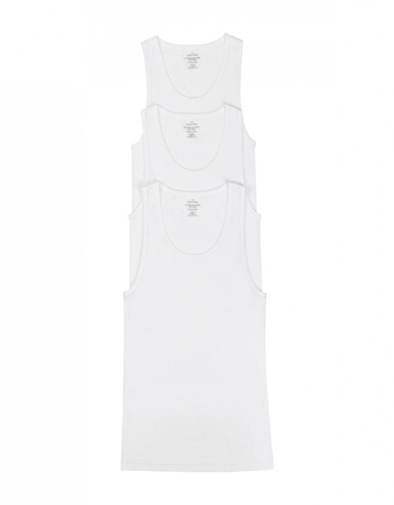 White Side Calvin Klein 3-Pack Cotton Classic Tank Tops