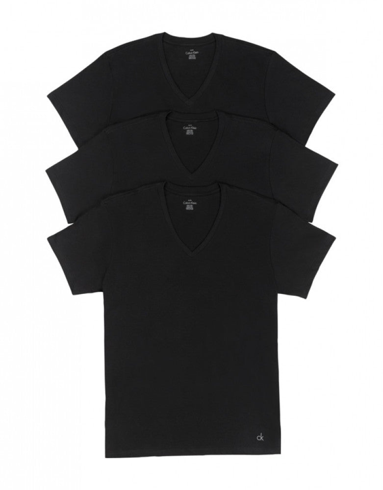 Black Front Calvin Klein 3-Pack Cotton Classic V-Neck T-Shirts