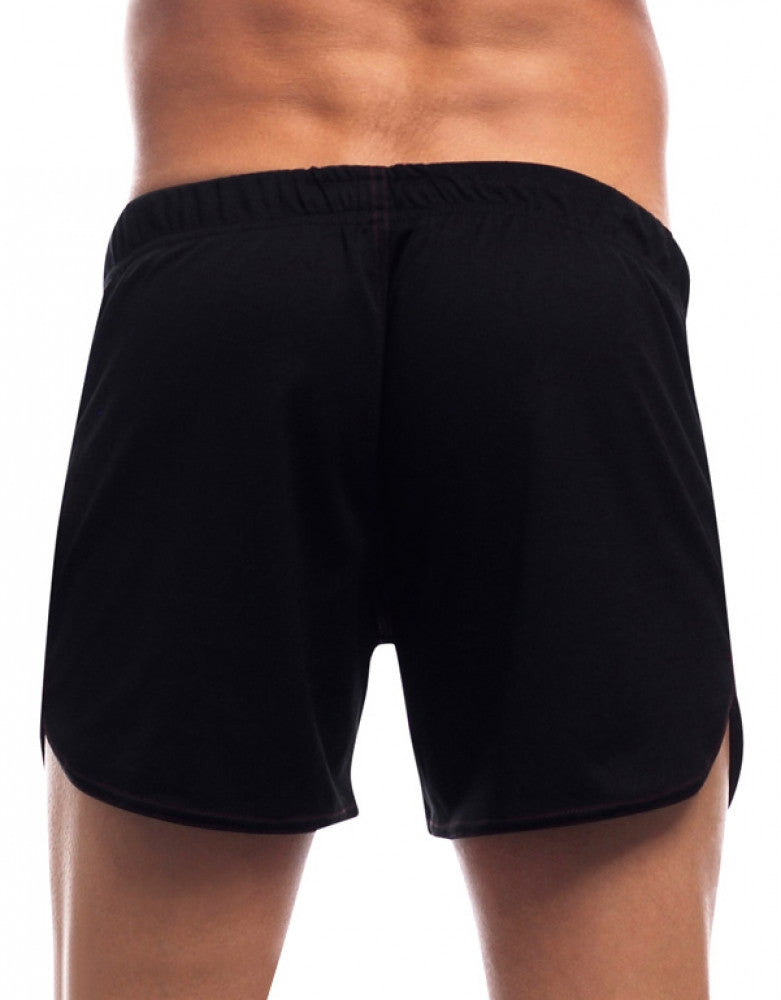 Black Back Go Softwear Gym Shorts with Built-In Jock