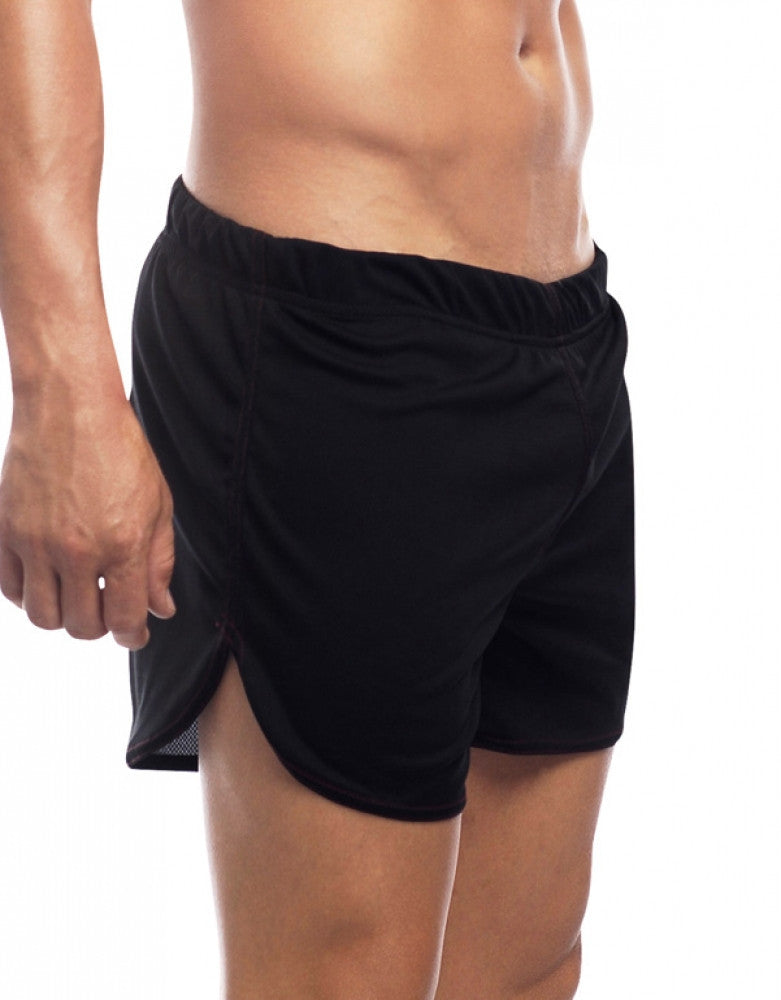 Black Side Go Softwear Gym Shorts with Built-In Jock