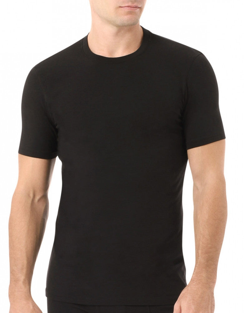 Black Front Naked Signature Modal Cotton Crew T-Shirt