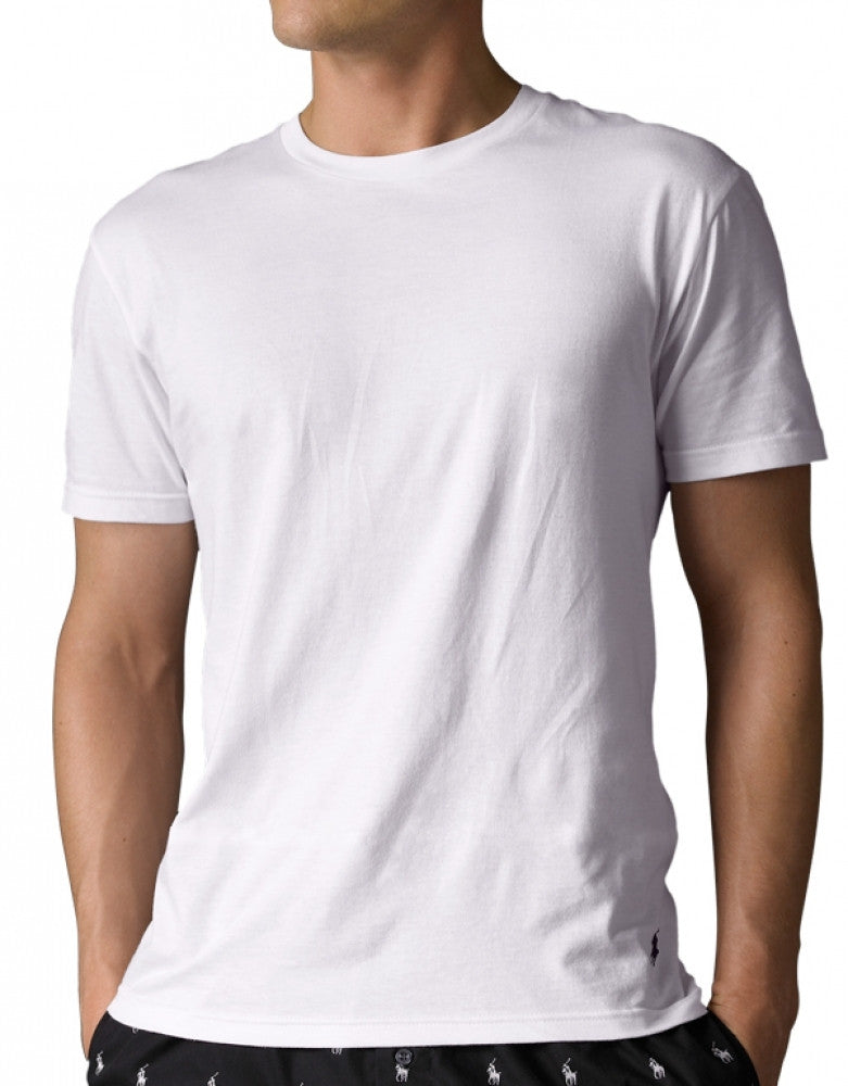 White Front Polo Ralph Lauren 3-Pack Classic Cotton Crew Neck T-Shirts