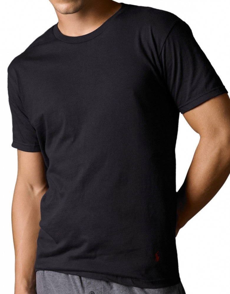 Black Front Polo Ralph Lauren 3-Pack Classic Cotton Crew Neck T-Shirts