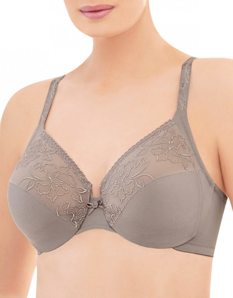 Taupe Front Glamorise Embroidered Wonderwire Bra