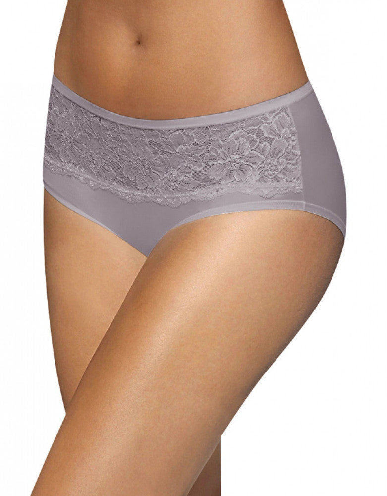 Bali One Smooth U Comfort Indulgence Satin Lace Hipster Warm Steel 6 017326875793