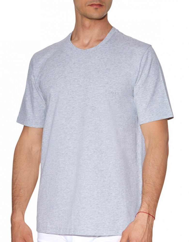 Grey Front Hugo Boss Crew Neck T-Shirt