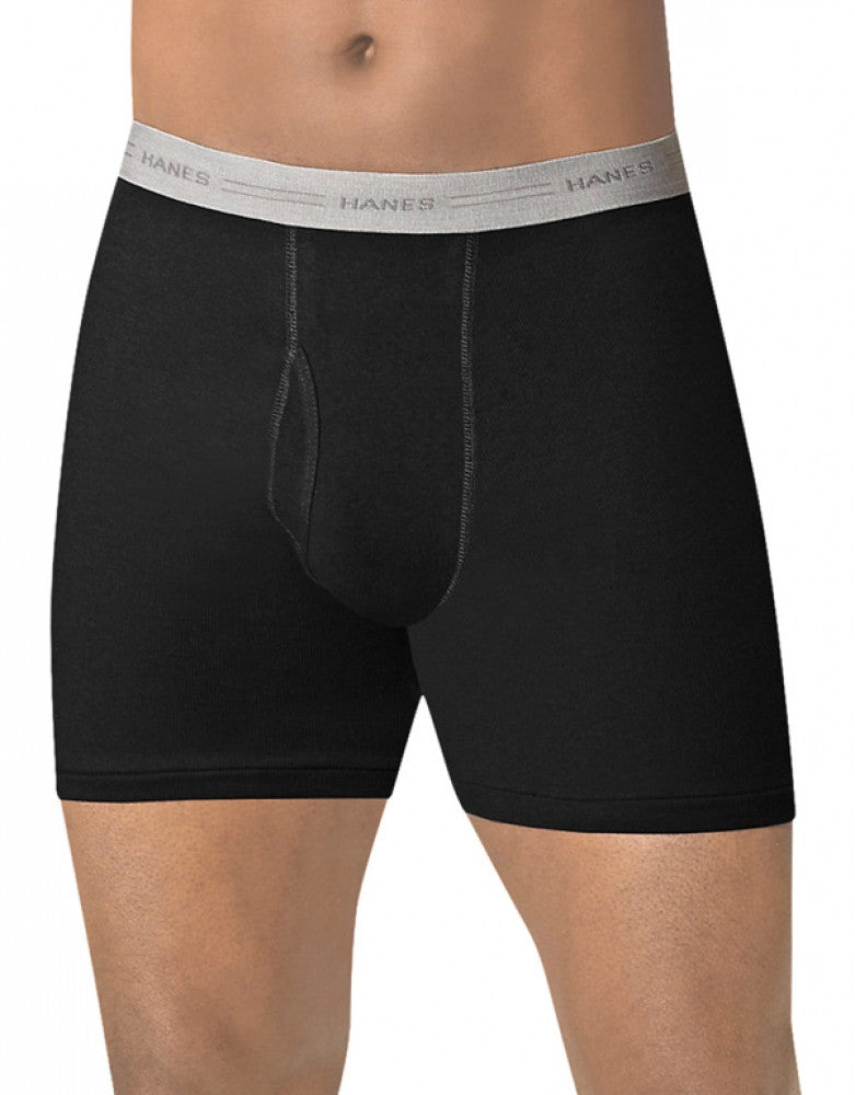 Assorted Black/Grey Front Hanes 4-Pack ComfortSoft Boxer Briefs