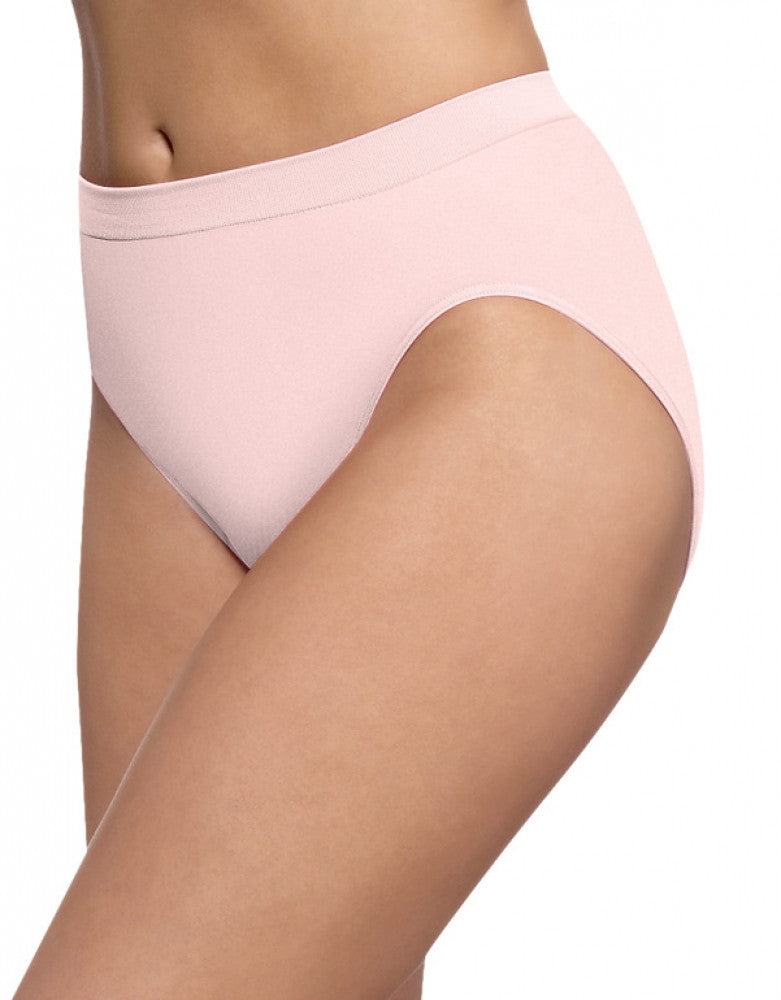 Blushing Pink Front Bali Barely There Comfort Revolution Microfiber High Cut Brief