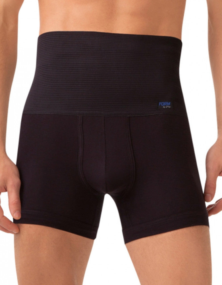 Black Front 2xist Form Shaping Boxer Brief