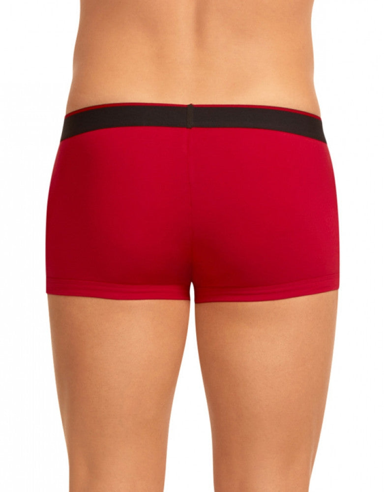 Red/Black Back Papi 3-Pack Cotton Stretch Brazilian Trunks
