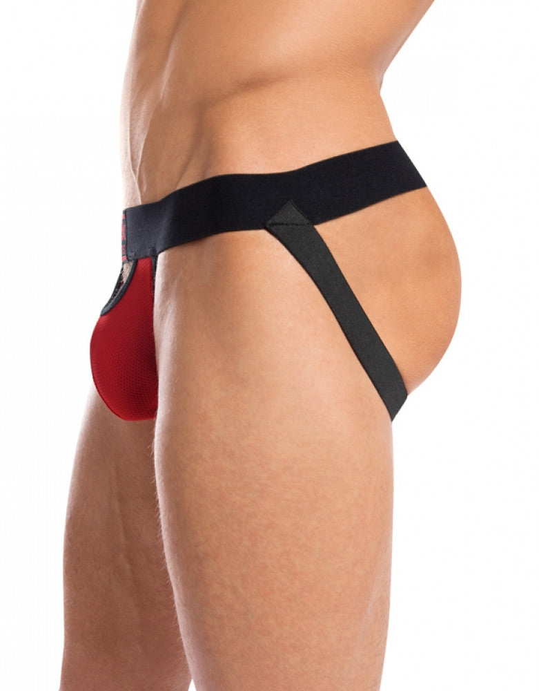 Red/Black Back Jack Adams Punter Bodyflex Jockstrap