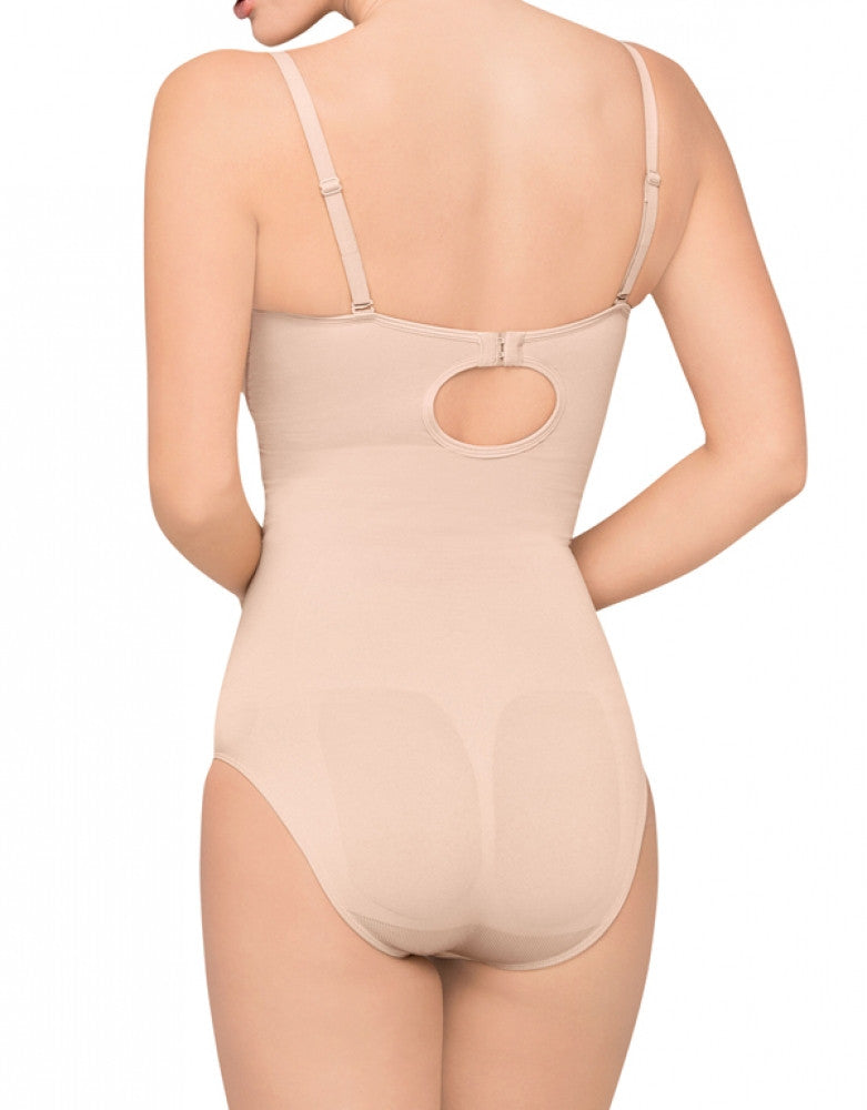 Nude Side Body Wrap The PinUp Bodysuit With Molded Cups 44003