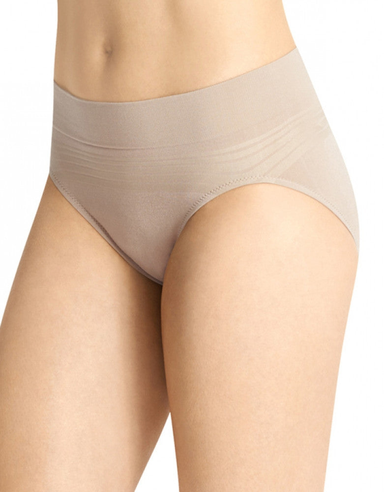 Toasted Almond Front Warner's No Pinching No Problems Seamless Hi-Cut Brief