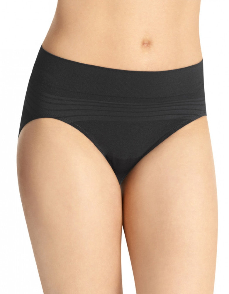 Black Front Warner's No Pinching No Problems Seamless Hi-Cut Brief