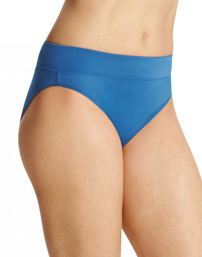 Ink Blue Front Warner's No Pinching No Problems All Day Fit High Cut Brief