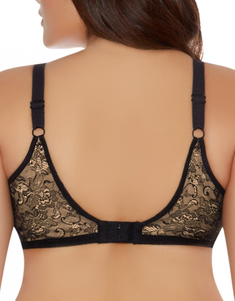 Black Back Goddess Yvette Banded Underwire Bra