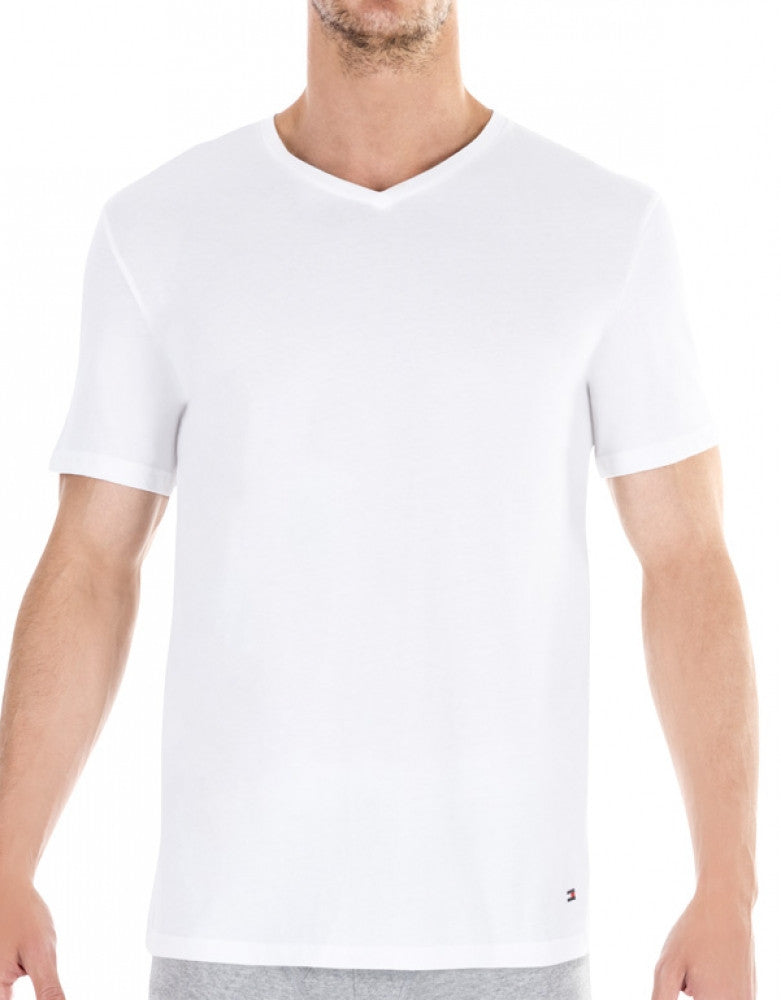 White Front Tommy Hilfiger 3-Pack Classic V-Neck T-Shirts 09TVN01